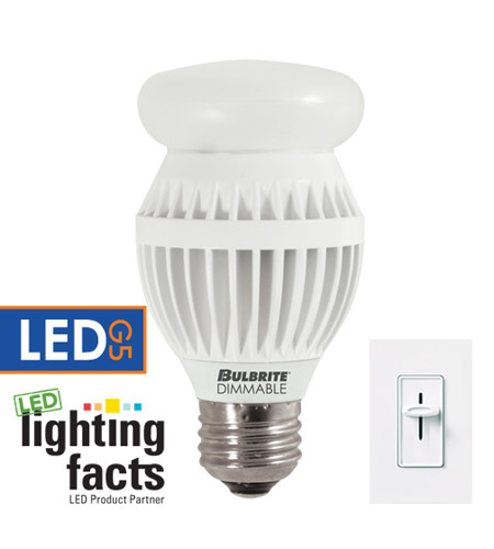 Bulbrite 12-Watt Dimmable LED A19, Medium Base, Soft White LED12A19/O/30K/D photo