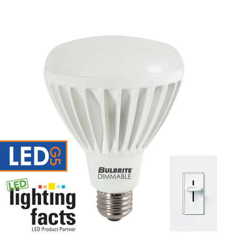 Bulbrite LED14BR30/27K/D LED Dimmable LED BR30 E26 14 watt 120V 2700K Bulb  photo