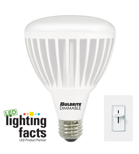 Bulbrite 15-Watt Dimmable LED BR30 Reflector, Soft White (3000K) LED15BR30WW/D photo