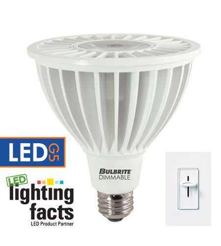 Bulbrite LED20PAR38NF/30K/D PARs LED PAR38 E26 20 watt 120V 3000K Bulb in Narrow Flood photo