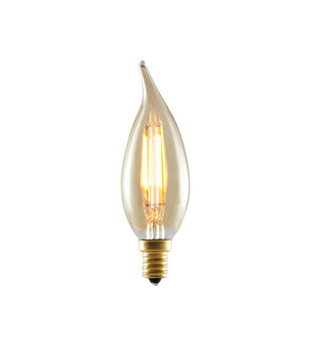 Bulbrite LED2CA10/22K/FIL-NOS Nostalgic LED CA10 E12 2 watt 120V 2200K LED Bulb in Amber