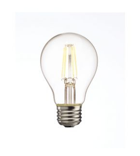 Bulbrite LED5A19/227K/FIL/2 LED Clear Filaments LED A19 E26 5 watt 120V 2700K Light Bulb photo