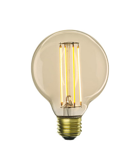 Bulbrite LED5G25/22K/FIL-NOS/2 Nostalgic Filaments LED G25 E26 5 watt 120V 2200K Light Bulb