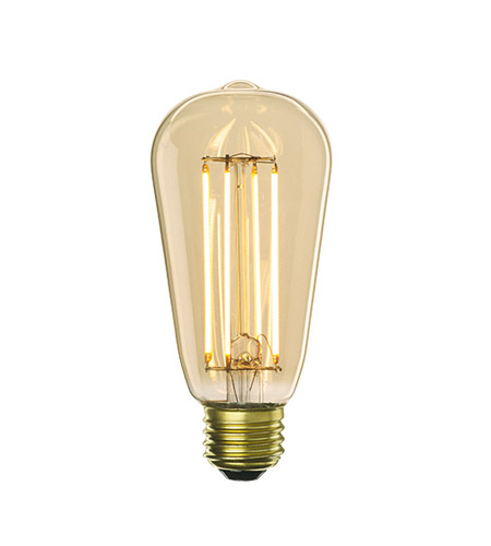 Bulbrite LED5ST18/22K/FIL-NOS/2 Nostalgic Filaments LED ST18 E26 5 watt 120V 2200K Light Bulb