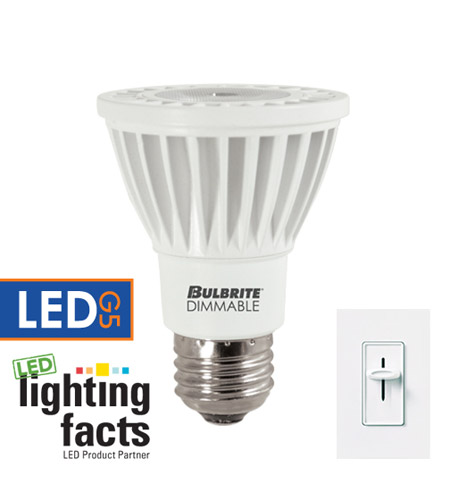 Bulbrite 8-Watt Dimmable LED PAR20, Medium Base, Soft White LED8PAR20NF/30K/D photo