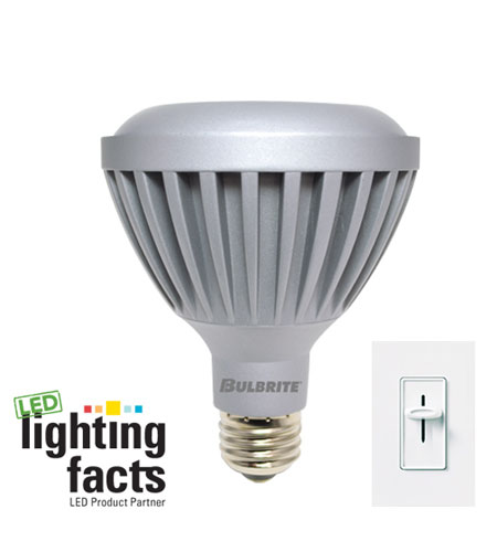 Bulbrite LED9PAR30WW/NF/D LED Dimmable LED PAR30 E26 9 watt 120V 3000K Bulb in Narrow Flood photo