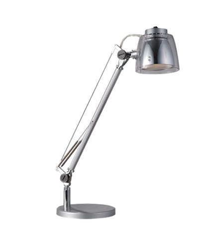 Bulbrite LED/MINISTRYDE/S MiniStryde 20 inch 5 watt Silver Desk Lamp Portable Light