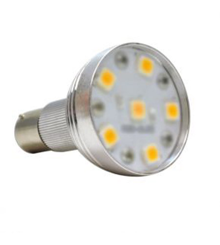 Bulbrite LED/1383/WW LED Non-Dimmable LED R12 BA15S 2.6 watt 13V 3000K Bulb photo
