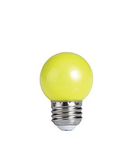 Bulbrite LED/G14Y Globes LED G14 E26 1 watt 120V LED Bulb in Yellow photo