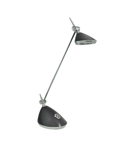 Bulbrite Slyng LED Desk Lamp with Touch Dimmer, Grey LED/SLYNG/GY photo
