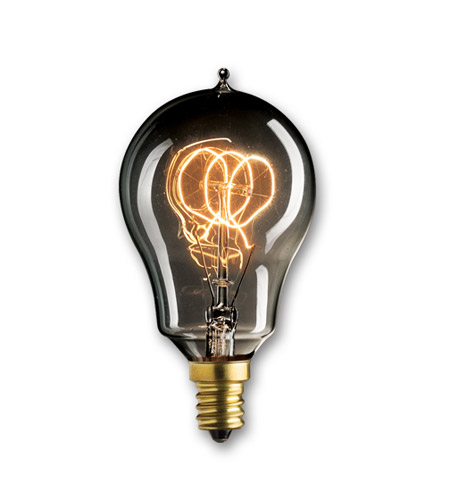Bulbrite NOS25A15/LP/E12/SMK Nostalgic Incandescent A15 E12 25 watt 120V 1800K Light Bulb in Smoke, E26, Loop photo