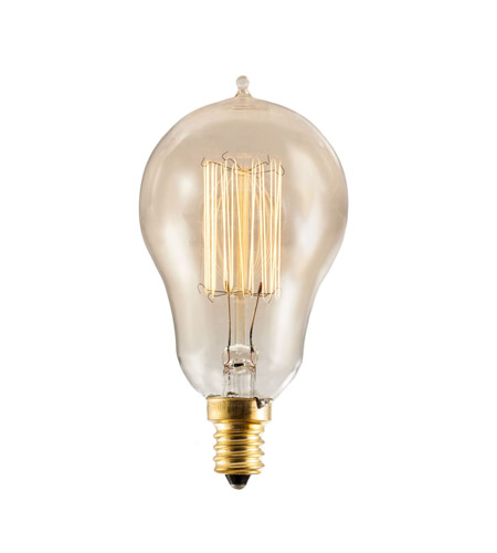 Bulbrite NOS25A15/SQ/E12 Nostalgic Incandescent A15 E12 25 watt 120V 1800K Light Bulb in Antique, Thread