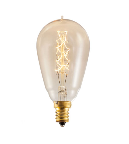 Bulbrite NOS25ST15/E12 Nostalgic Incandescent ST15 E12 25 watt 120V 1800K Light Bulb