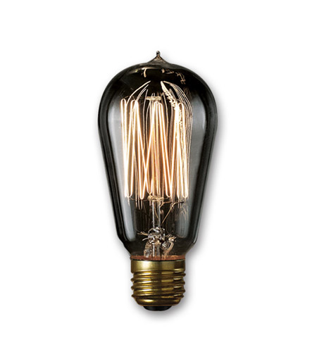 Bulbrite NOS40-1910/SMK Nostalgic Incandescent ST18 E26 40 watt 120V 1800K Light Bulb in Smoke, 2100K photo