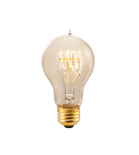Bulbrite NOS40-VICTOR Nostalgic Incandescent A19 E26 40 watt 120V 2100K Light Bulb in Antique photo