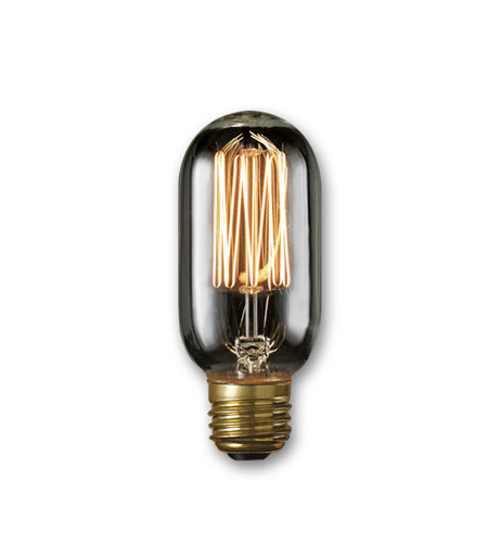 Bulbrite NOS40T14/SQ/SMK Nostalgic Incandescent T14 E26 40 watt 120V 1800K Light Bulb in Smoke, Thread photo