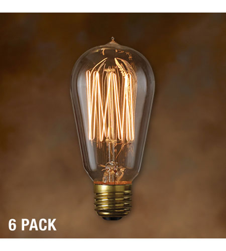 Bulbrite 40W Nostalgic Edison Squirrel Cage-style Bulb, 6-Pack NOS40-1910-6PK photo