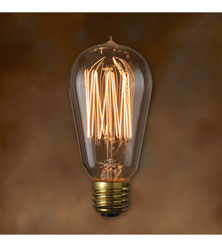 Bulbrite 60-Watt Incandescent Nostalgic 1910 Thread A19, Medium Base, Antique NOS60-1910 photo