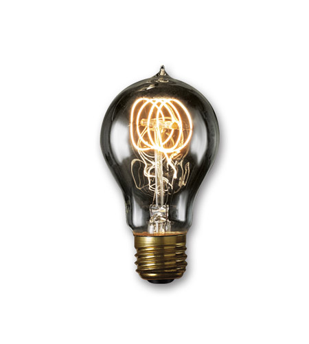Bulbrite NOS60-VICTOR/SMK Nostalgic Incandescent A19 E26 60 watt 120V 1800K Light Bulb in Smoke photo