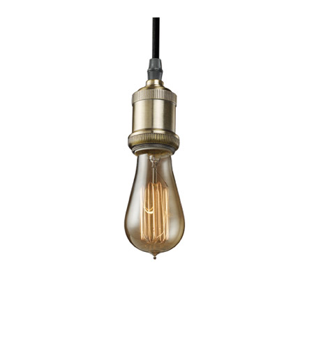Bulbrite NOS/PEND/BARE-PW Nostalgic 1 Light 4 inch Pewter Pendant Ceiling Light in Bare photo
