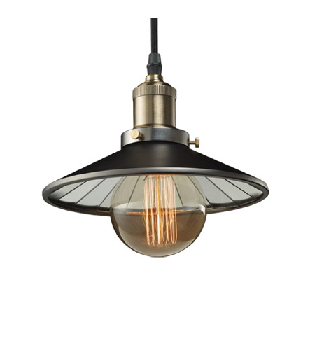 Bulbrite NOS/PEND/SHADE-PW Nostalgic 1 Light 7 inch Pewter Pendant Ceiling Light in Shade photo
