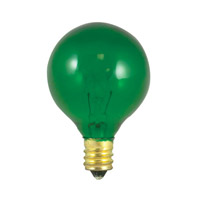 Bulbrite Transparent Green Light Bulbs