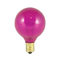 Bulbrite Transparent Pink Light Bulbs