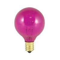 Bulbrite 10W G12 Globe 120V Light Bulb, Pink 10G12P