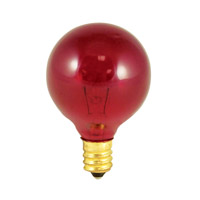 Bulbrite Transparent Red Light Bulbs