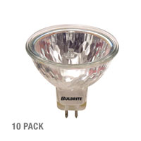 Bulbrite 10W 12V Halogen, MR16 Bi-Pin, Narrow Flood, 10-Pack 10MR16NF-10PK