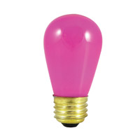 Bulbrite Specialty S14 Medium Base Bulb in Pink 11S14CP