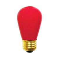 Bulbrite 11S14CR-25PK Sign & Night Light Incandescent S14 E26 11 watt 130V Bulb Pack of 25