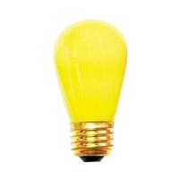 Bulbrite 11S14CY-25PK Sign & Night Light Incandescent S14 E26 11 watt 130V Bulb Pack of 25