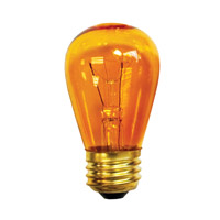 Bulbrite 11S14TA-25PK Indicator Incandescent S14 E26 11.00 watt 130 Bulb Pack of 25