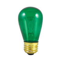 Sign & Night Light Incandescent S14 E26 11 watt 130V Bulb, Pack of 25