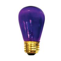 Bulbrite 11S14TPU-25PK Sign & Night Light Incandescent S14 E26 11 watt 130V Bulb Pack of 25