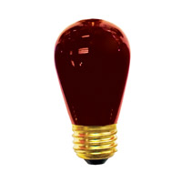 Bulbrite 11S14TR-25PK Sign & Night Light Incandescent S14 E26 11 watt 130V Bulb Pack of 25