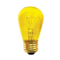 Bulbrite 11S14TY-25PK Sign & Night Light Incandescent S14 E26 11 watt 130V Bulb Pack of 25
