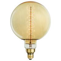 Bulbrite NOS60-GLOBE Grand Nostalgic Incandescent G63 E26 60.00 watt 120V 2200K Bulb Spiral