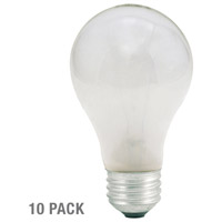 Bulbrite 25W 130V Long Life Standard Incandescent A19, Frost, 10-Pack 25A-10PK photo thumbnail