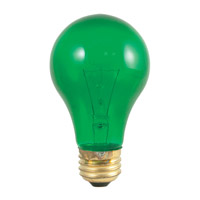Bulbrite 25A/TG-18PK Colored Lamps Incandescent A19 E26 25 watt 120V Bulb Pack of 18
