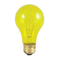 Colored Bulbs Incandescent A19 E26 25 watt 120V 2700K Bulb in Transparent Yellow