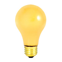 Bulbrite 25A/YB Bug Lights Incandescent A19 E26 25 watt 130V 2700K Bulb photo thumbnail