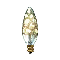 Bulbrite Incandescent Dimmable 25W E12 Light Bulb in Amber Marble 25B10/MAR