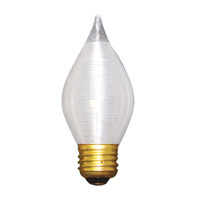 Bulbrite 25W Spunlite Chandelier, Medium Base, Satin Finish 25C15S