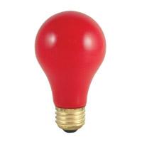 Bulbrite 40A/CR-18PK Colored Lamps Incandescent A19 E26 40 watt 120V Bulb Pack of 18