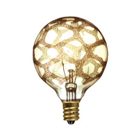 Bulbrite Incandescent Dimmable 40W E12 Light Bulb in Amber Marble 40G16/MAR/E12
