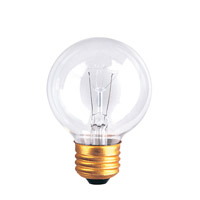 Incandescent Dimmable Incandescent G19 E26 40 watt 125V 2700K Bulb in Clear