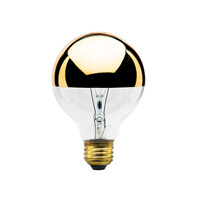 Bulbrite 40G25HG-6PK Half Gold Incandescent G25 E26 40 watt 120V 2700K Bulb, Pack of 6 photo thumbnail