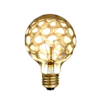 Bulbrite Incandescent Dimmable 40W E26 Light Bulb in Amber Marble 40G25/MAR